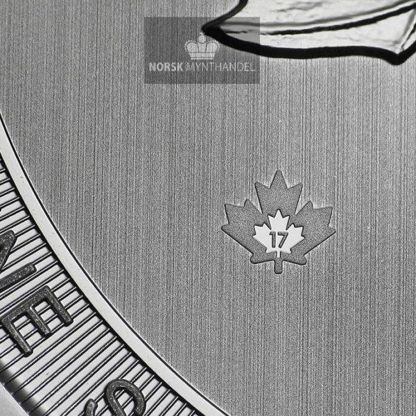2017 Kanada 10 oz Sølvmynt Magnificent Maple Leaf BU