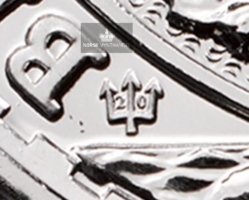 2017 Storbritannia 1 oz Sølv Britannia 20th Anniversary
