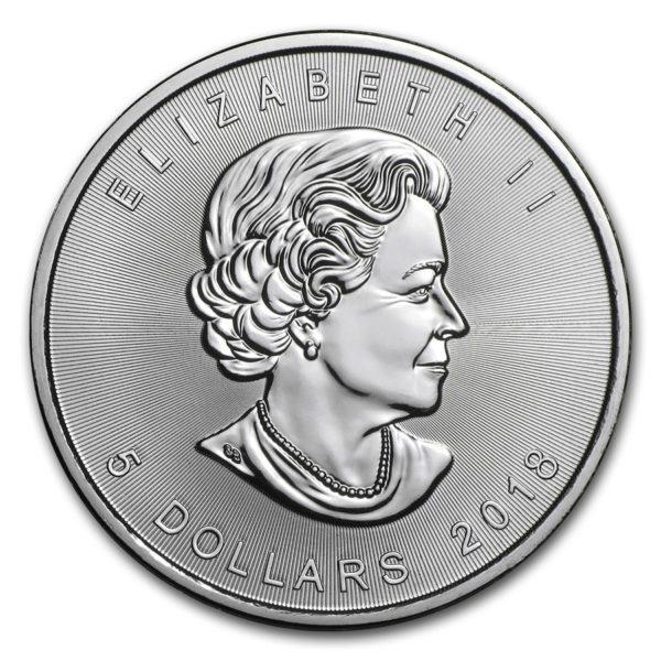 2018 Kanada 1 oz Sølv Maple Leaf PCGS MS69
