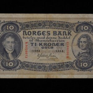 10 KRONER 1942 B SERIE