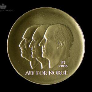 2003 Hundreårsmynten 1500 Kroner i Gull Nr. 1 Proof