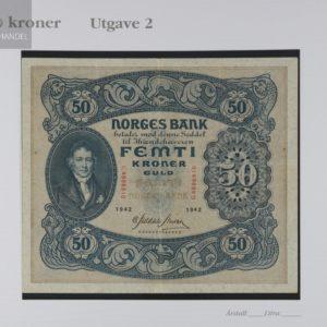 50 Kroner 1943 C Serie