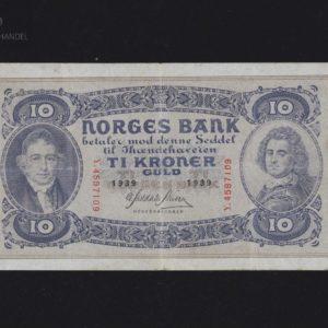 10 Kroner 1939 Y Serie