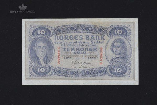 10 Kroner 1944 E Serie