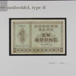 1 Krone 1948 K Serie