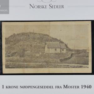 1 Krone 1940 Moster Kommune