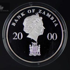 "2000 Zambia 4000 Kwacha ""African Wildlife"""