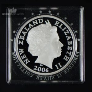 "2006 New Zealand 5 Dollars Silver Falcon Proof ""Fabulous 12"""