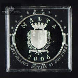"2006 Malta Sølvmynt ""Sir Zammit"" Proof Fabolous 12"
