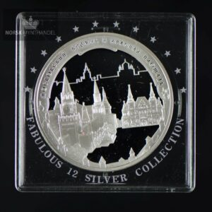 "2006 Russland 1 oz Sølv ""Moscow's Kremlin and Red Square"" Proof"