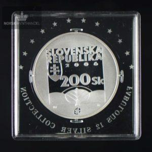 """2006 Slovakia Sølvmynt """"Karol Kuzmàny"""" Proof Fabulous 12"""
