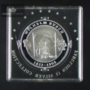 "2007 Tyskland Sølvmynt ""Wilhelm Busch"" Proof Fabulous 12"