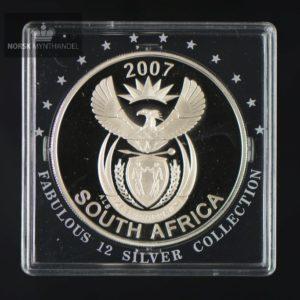 "2007 Sør Afrika 1 oz sølv 20 Cent ""Løve og Surikat"" Fabolous 12"