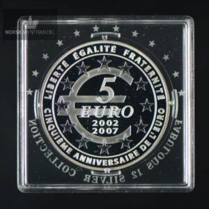 "2007 Frankrike 5 Euro ""5th Anniversary of the Euro"" Fabolous 12"