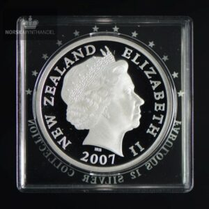 "2007 New Zealand Sølvmynt Tuatara Proof ""Fabulous 12"""