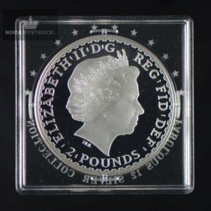 """2007 Storbritannia 1 oz Sølv Britannia Proof """"Fabulous 12"""""""
