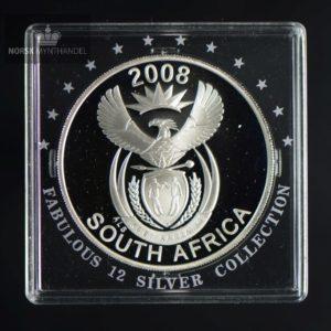 """2008 Sør Afrika 20 Cents """"Peace Parks"""" 1 oz Fabolous 12"""