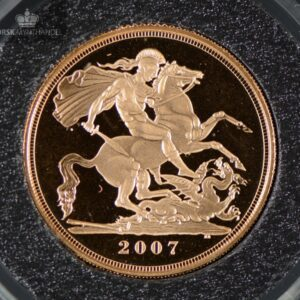 2007 Storbritannia Sovereign Gullmynt Proof