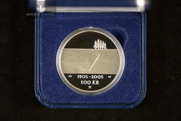 2003 100 Kroner Hundreårsmynten i Sølv Nr. 1 Proof