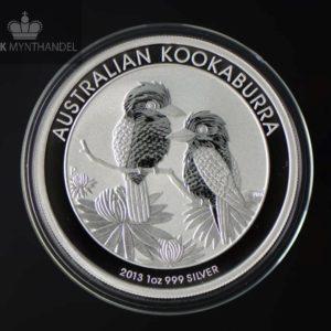 2013 Australia 1 oz Sølv Kookaburra