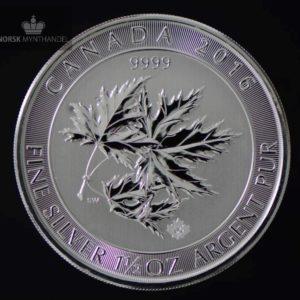 2016 Kanada 1.5 oz Sølv Maple SuperLeaf