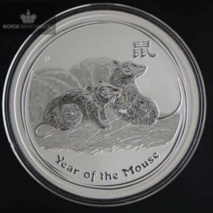 2008 Australia 1 oz Sølv Lunar Year of the Mouse BU
