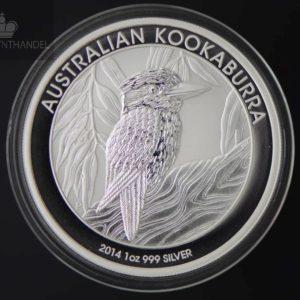 2014 Australia 1 oz Sølv Kookaburra BU