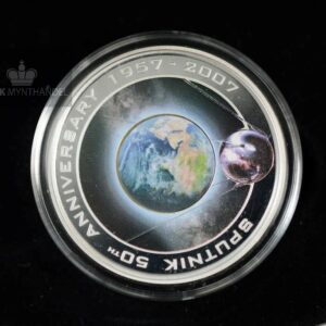 2007 1 oz Sølvmynt Orbit & Beyond 50th Anniversary of Sputnik