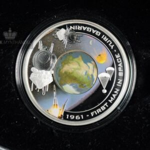 "2008 1 oz Sølvmynt Orbit & Beyond ""First Man In Space"""