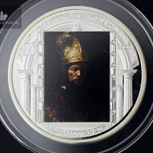 "2010 Masterpieces of Art 3 oz Sølv ""Man in a Golden Helmet"""