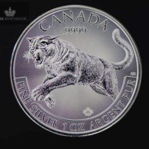 2016 Kanada 1 oz Sølv Predator Serie Cougar