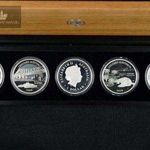 """2008 Australia 1$ Sølvmyntsett """"Discover Australia"""""""