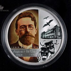 "2010 Tuvalu 1 oz Sølv ""Great Russian Minds - Anton Chekhov"""