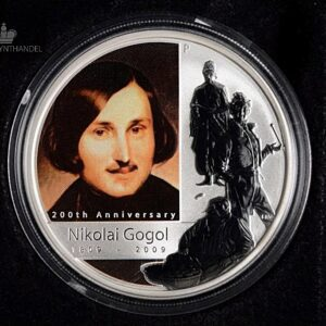 "2009 Tuvalu 1 oz Sølv ""Great Russian Minds - Nikolai Gogol"""