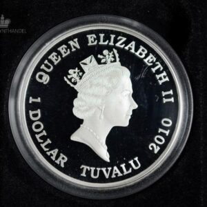 "2010 Tuvalu 1 oz Sølv ""Great Composers - Chopin"""