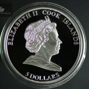 "2009 Cook Islands 5$ Sølv Napoleon ""Great Commanders & Battles"""