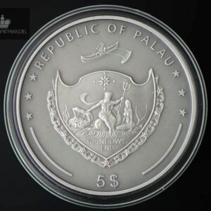 "2009 Palau 5$ Sølv ""Louis Braille 200th Birthday"""