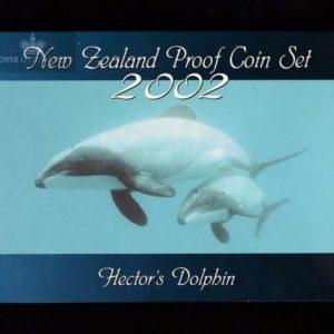 2002 New Zealand Proofsett Hector`s Dolphin M/Sølvmynt