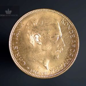 1916 Danmark 20 Kroner Gullmynt