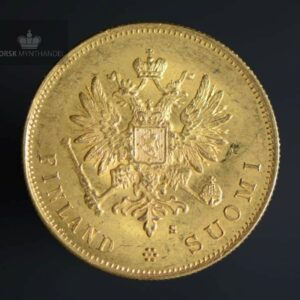 1882 Finland 10 Markkaa Gullmynt
