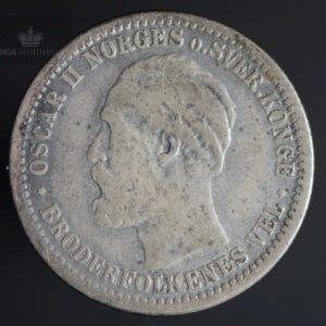1877 50 Øre Kv 1/1-