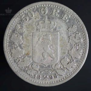 1898 50 Øre Kv 1/1-