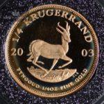 2003 Sør Afrika Krugerrand 1/4 oz Gullmynt Proof
