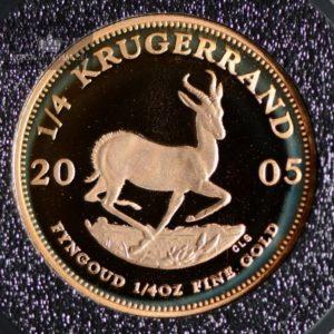 2005 Sør Afrika Krugerrand 1/4 oz Gullmynt Proof
