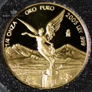 2005 Mexico Libertad 1/4 oz Gullmynt Proof