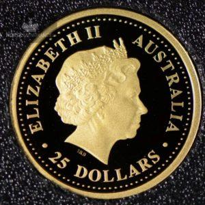 2004 Australian Gold Nugget 1/4 oz Proof