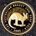 2005 Australian Gold Nugget 1/4 oz Proof