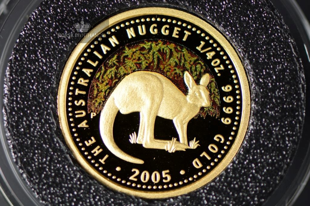 2005 Australian Gold Nugget 1/4 oz Proof