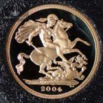 2004 Storbritannia Sovereign Gullmynt Proof