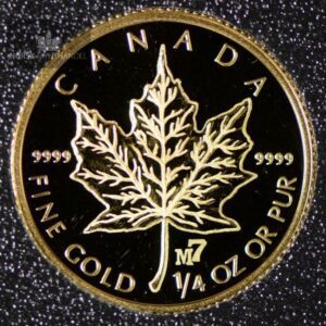 2004 Canadian Gold Maple Leaf 1/4 oz Proof Privy M7